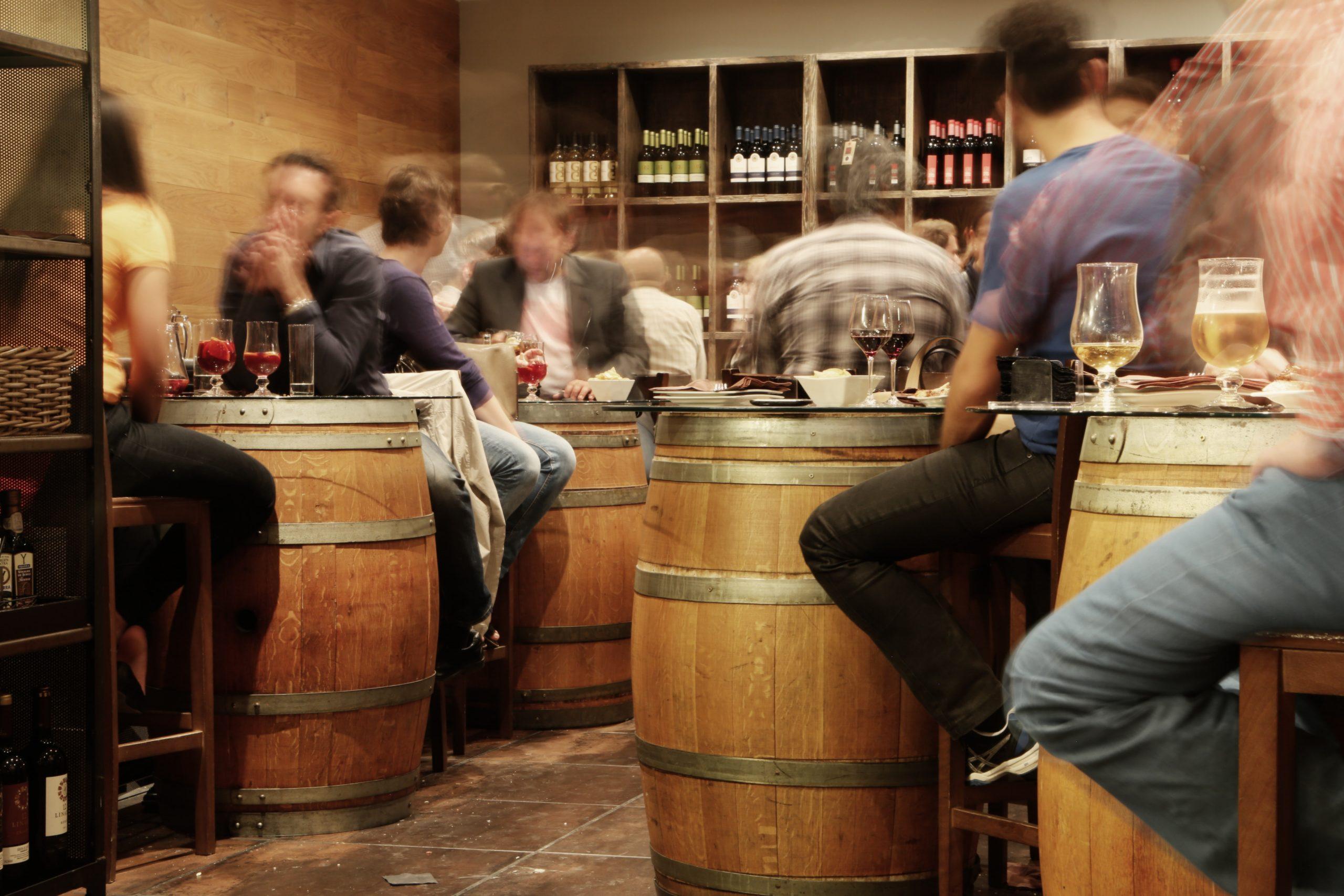 Wine Bar Barrels Guests